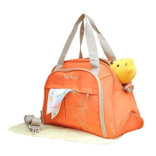 Multifunctional Diaper Bag Orange