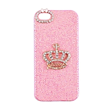 CO 3D Bling Crown Bowknot Shiny Hard Back Case Cover for iPhone 5 5S