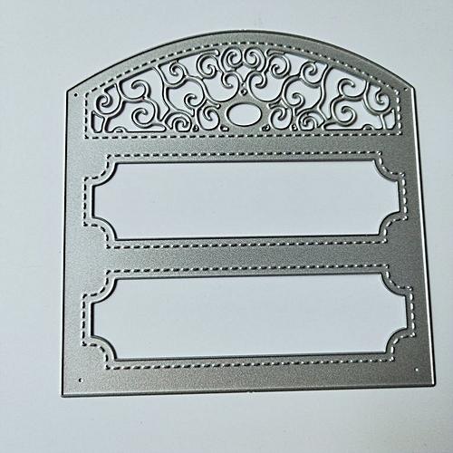 Frame Shape DIY Cutting Dies Stencil Scrapbooking Album Embossing Tool  Silver