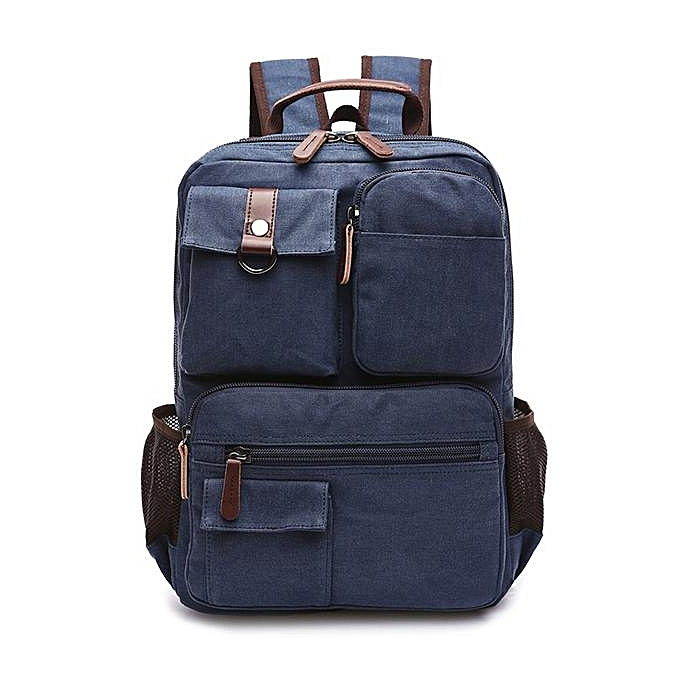 8cd19d924fa 14inch Laptop Men Canvas Backpack Travel Hiking Large Capacity Student  Backpack