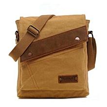 2016 New AUGUR Fashion Men's Casual Canvas Crossbody Bags Travel Messenger Shoulder Hiking Bags(Khaki)