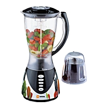 SB-606 - Powerful Blender with Mill/Grinder - Metallic