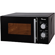 RM/459 - 20 Lt  - Manual Glass Microwave- Black