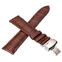 Durable men women Genuine Leather watch strap for men &women 22 mm genuine leather Watch Band