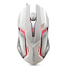 Warwolf M - 02 Wired Gaming Mouse Adjustable DPI Colorful LED Light - WHITE