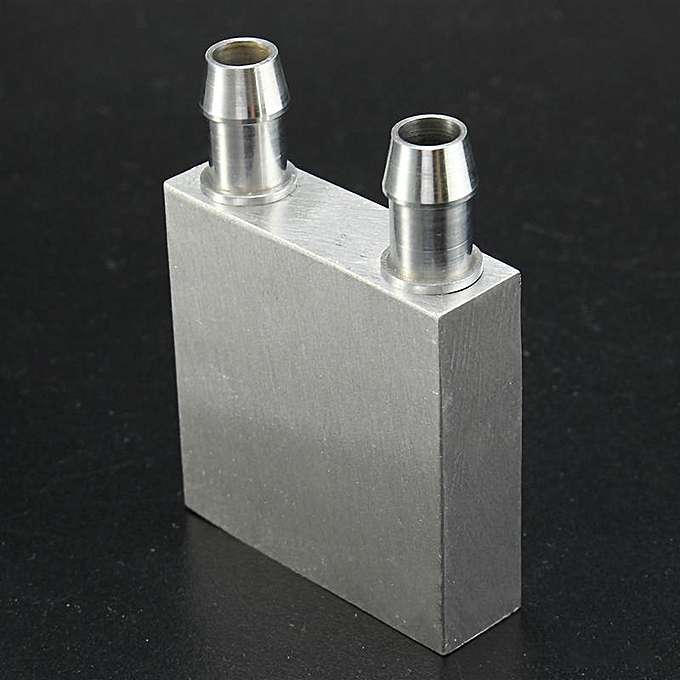Aluminum Alloy Water Cooling Block For Liquid Cooler Silver System Heat Sink Fan Cooling Computer & Office