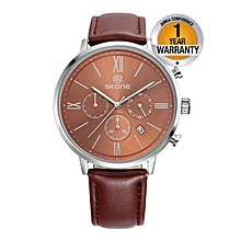 Brown Chronograph Ladies Watch