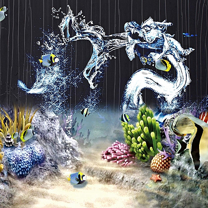 Generic Water Dragon Hd Aquarium Background Poster Fish Tank