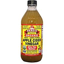 Organic Raw, Unfiltered, Gluten-Free Apple Cider Vinegar, 473ml