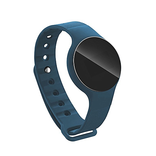 H01 0.66 Inch Waterproof Heart Rate Monitoring Sport Pedometer Bracelet blue