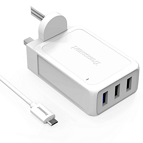 Tronsmart WC3PC 42W Qualcomm Quick Charge 2.0 3Port USB Wall Charger (White) QTG-W
