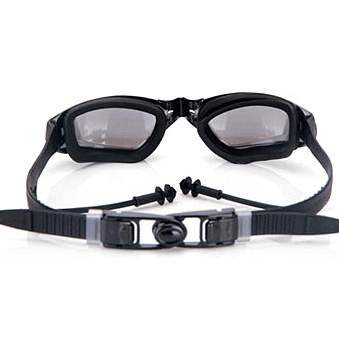 ad230e2497f ... Men Women Summer Outdoor Siamese Silicone Earplugs Plated Swimming  Goggles ...