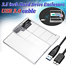 """USB 3.0 to SATA Hard Drive Enclosure Caddy Case For 2.5"""" Inch HDD / SSD"""