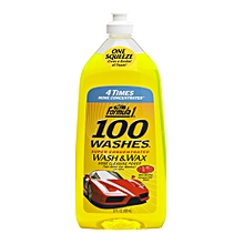 100 Washes Wash and Wax (828 ml)