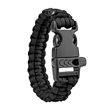 Koaisd Survival Bracelet Compass Flint Fire Starter Whistle Scraper Gear Kits