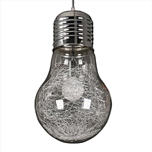 Creative Big Bulb Chandelier -Silver