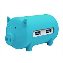 ORICO Little Pig High Speed USB 3.0 OTG HUB Adapter SD TF Card Reader For Macbook Laptop Blue