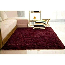 Fluffy Carpet - 7x10 - Maroon Extremely comfortable carpet