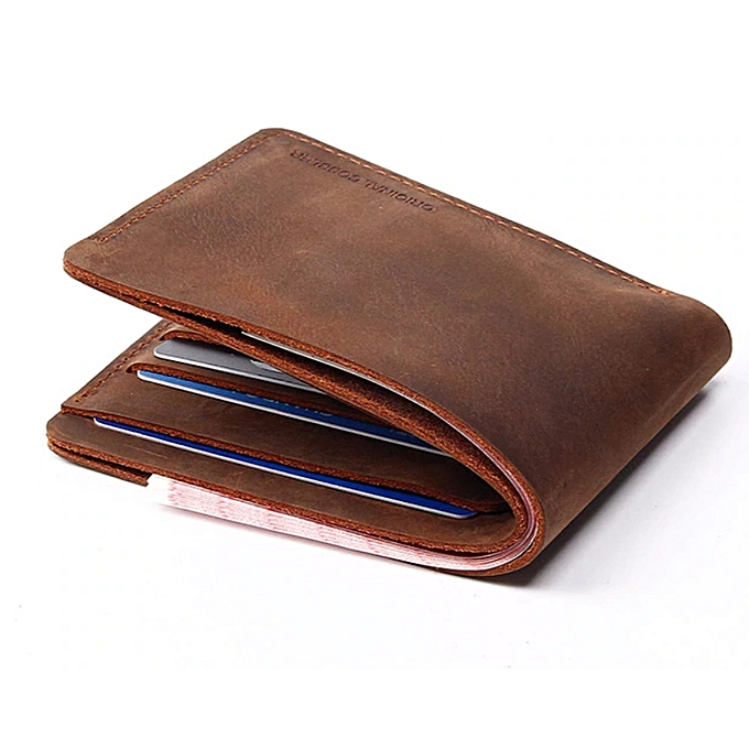 185677e995241 Cow Leather Style Hand Made Vintage Personalized Name Men s Short Small Wallet  Men s Leather Wallet -