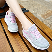 Fashion Women Mesh Heightening Shoes Soft Bottom Rocking Shoes Sneakers(US Size)