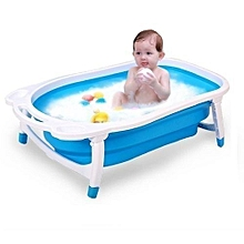 Folding Baby Bath Tub Portable Big Size – Blue(big size)