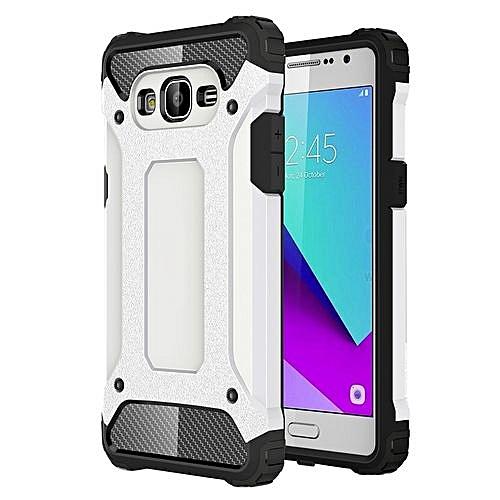 online store a636c e9b66 For Samsung Galaxy J2 Prime / G532 Tough Armor TPU + PC Combination Case  (White)