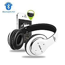 Bluetooth Headset Headphones Wireless Earphone Hands Free Music MF/TF FM Radio Mp3 Player For Mobile Phone