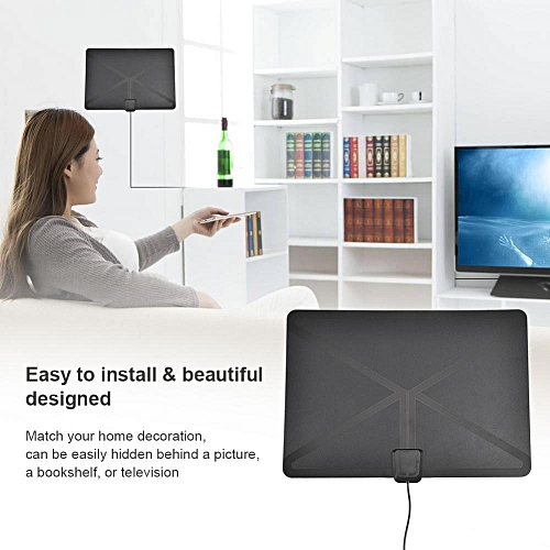 50 Miles Range ATSC Indoor HD TV Antenna for High Definition Television (US)
