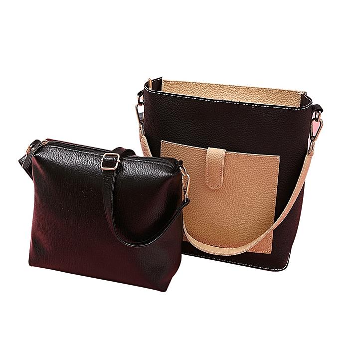 4db75e38dc62 Women Two Piece Bag Handle Bags Fashion Messenger Bags Handbag Bag Shoulder  Bag