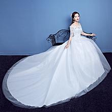 Chapel Train Wedding Dresses, Designer Fabulous Wedding Gown