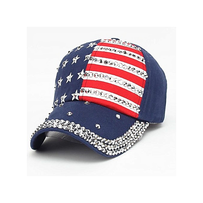 de7b10b2a78 Eissely Women Men American Flag Baseball Cap Snapback Hip Hop Flat ...