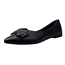 Generic Women's Flats Ladies Comfy Shoes Soft Slip-On Single Casual Boat Shoes A1