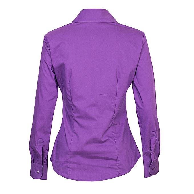 46290330 Cotton Express Ladies Shirt - Purple @ Best Price Online | Jumia Kenya