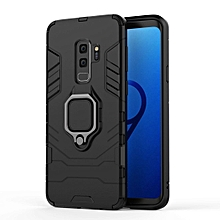 PC + TPU Shockproof Protective Case for Galaxy S9+, with Magnetic Ring Holder
