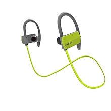 Sports Bluetooth Headphones IPX4 Anti-water In Ear Wireless Headset Hands Free Earphone With Microphone For Running (Green)