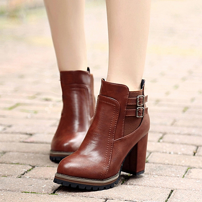 c86b38030fba Women Boot High Heels Ankle Boots Platform Shoes Women Shoes Autumn Winter  BW 35-