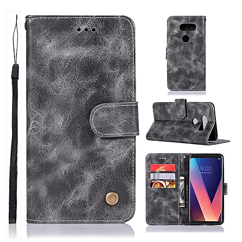 finest selection ce4a4 d5879 Casing For LG V30/H932,Reto Leather Wallet Case Magnetic Double Card Holder  Flip Cover