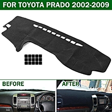 Car Dashmat Dashboard Dash Mat Sun Cover Carpet Pad For Toyota Prado 2002-2009