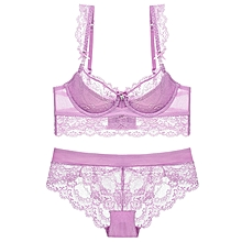 Lailac Lace  Panty and Bra Set With Cotton Lining
