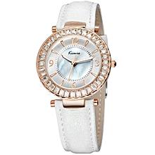 White Gold Tone Exclusive Wrist Watch + Free Gift Box
