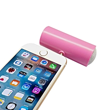 Speaker 3.5mm Music Player Stereo Speaker For iPod iPhone6 Plus Note4 Cellphone PK-Pink