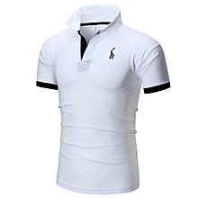 New Fashion Men's Classic Polo Shirt-white