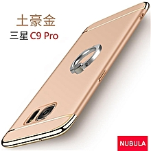 Samsung Galaxy C9 / C9 Pro 3 In 1 Hard PC Protective Back Cover Case/Anti Falling Phone Cover/Shockproof Phone Case With Metal Ring (Color:Gold)