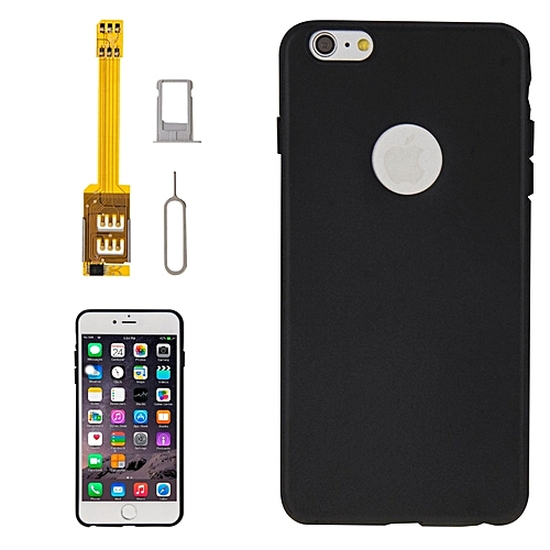 buy popular 9d910 7399a 4 In 1 (dual Sim Card Adapter + Tpu Case + Tray Holder + Sim Card Tray  Holder Eject Pin Key) For Iphone 6 Plus