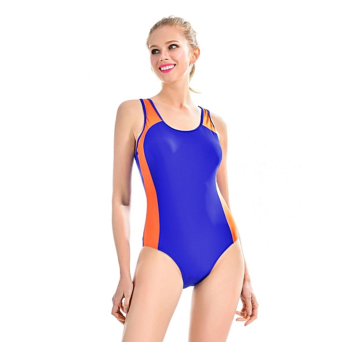 3ee0b350354 Women One Piece Swimsuit Backless Swimwear Athletic Training Sport  Bodysuits Beachwear Bathing Suit Wire Free