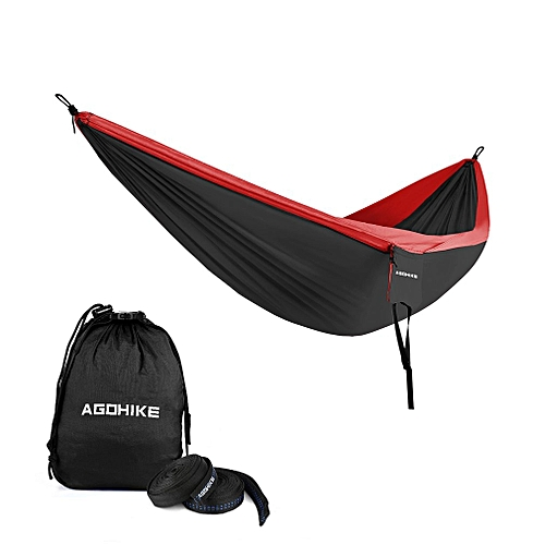 Portable Camping Hammock Parachute Nylon Cloth Sleeping Swing Hammock For Outdoors Backpacking Travel Beach Camping & Hiking