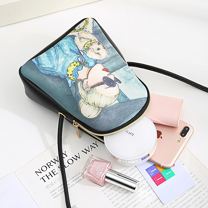 Fashion Women Printed Mobile Phone Bag One Shoulder Cross Body Bag