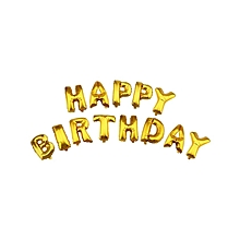 Letter Happy Birthday Balloon Aluminum Foil Membrane Balloons For Birthday Party Decoration - Golden