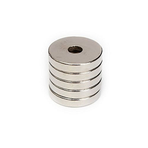 Generic 5pcs N50 Strong Round Ring Magnets 20mm X 4mm Hole 5mm Rare Earth Neodymium