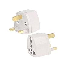Travel Socket Plug Adapter with UK Socket Plug - White
